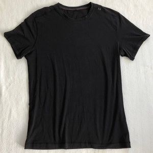 Mens Lululemon Black Gray Soft Stretchy T Shirt